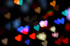 Hearts bokeh colorful Stock Images