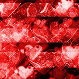 Hearts. Bokeh pattern background effect Royalty Free Stock Image