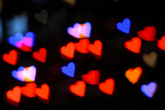 Hearts bokeh red Royalty Free Stock Image