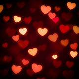 Hearts bokeh valentine day background stock photography