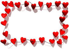 Hearts border Royalty Free Stock Images