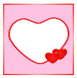 Hearts border. Illustration of a lovely hearts border.eps file is available Royalty Free Stock Photos