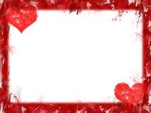 Hearts border Stock Image