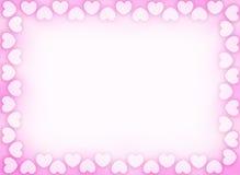 Hearts border / frame Royalty Free Stock Photo