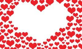 Hearts border frame Stock Image
