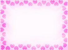 Hearts border invitation  Stock Photo