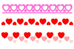 Hearts. Border of hearts, love, hearts Vector Illustration