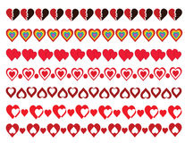 Hearts Borders Pack Royalty Free Stock Images