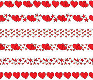 Hearts borders Royalty Free Stock Image