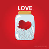 Hearts in the bottle vector Royalty Free Stock Photos