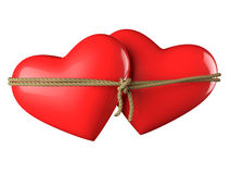 Hearts Bound Together Royalty Free Stock Image