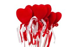 Hearts bouquet Stock Photography