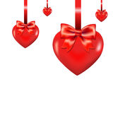 Hearts With Bow Royalty Free Stock Images