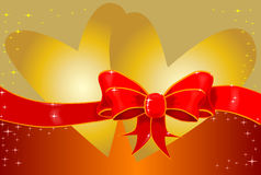 Hearts and Bow Stock Photography