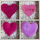 Hearts in a box Royalty Free Stock Images