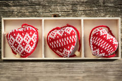 Hearts in box Stock Photo