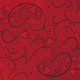 Hearts on branches. The background of hearts and branches. Red cover. Valentine's Day Royalty Free Illustration