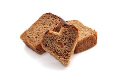Hearts of bread Stock Photography