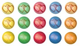 Hearts in bubble Royalty Free Stock Images