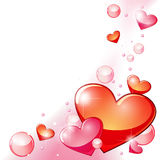Hearts and bubbles Stock Image