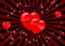 Hearts and bubbles Royalty Free Stock Image