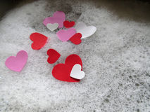 Hearts and Bubbles Royalty Free Stock Photography