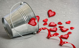 Hearts in a Bucket Royalty Free Stock Image