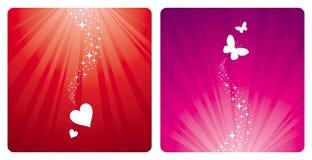 Hearts & butterflies Stock Photo