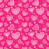 Hearts and butterfly Seamless background in vintag. Love hearts Valentine Day Seamless Pattern. Abstract Pink Vector Background Royalty Free Stock Photography