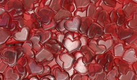 Hearts candies background Royalty Free Stock Photography