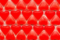 Hearts of candy Stock Photography