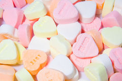 Hearts candy. Candy in the shape of hearts stock images