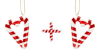 Hearts from candy canes Stock Image