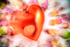 Hearts and Candy Colors Royalty Free Stock Photos