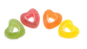 Hearts candy with sugar Stock Photos
