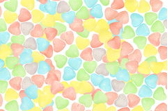 Hearts  candy Valentine Background Royalty Free Stock Image