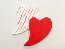Hearts on canvas Royalty Free Stock Images