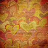Hearts on canvas Stock Photos