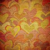 Hearts on canvas Stock Photos