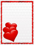 Hearts card Royalty Free Stock Photography