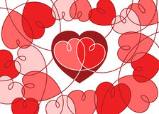 Hearts card Stock Image