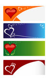 Hearts cards Royalty Free Stock Photos
