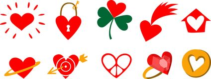 Hearts characters Stock Images