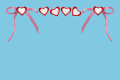 Hearts and checked loop Royalty Free Stock Image
