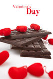 Hearts and chocolate Stock Photography