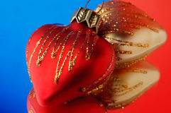 Hearts Christmas ornament Royalty Free Stock Photography