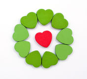 Hearts circle Royalty Free Stock Photo