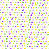 Hearts and circles Stock Images