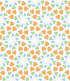 Hearts and circles pattern. Orange, blue, green hearts and circles seamless pattern Stock Images