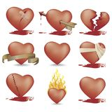 Hearts With Clipping Path. Illustration with Clipping path Stock Image